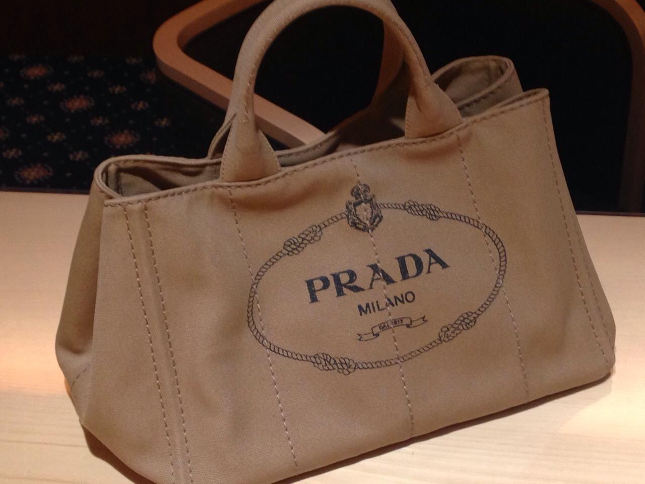 PRADA プラダ カナパトートバッグ キャンバス ブラウン 美品